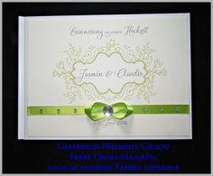Gästebuch Hochzeit, Geschenk, Maigrün, Creme GB 270