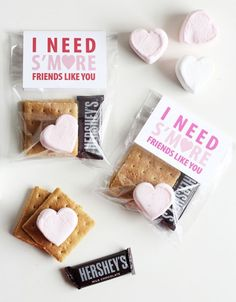 Put together these cute s'mores kits with these free printables for a cute Galentine's Day gift idea.
