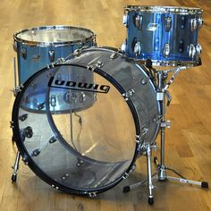 Ludwig Vistalite 14/18/26 3pc Drum Kit Blue Acrylic | Chicago Music Exchange