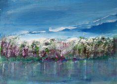 Spring Abstract Landscape Painting Garden by PuzzledbyArtmondo