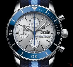 "Breitling is supporting the ""Ocean Conservancy"" with sales form their new ""Breitling SuperOcean Chronograph Heritage Ocean Conservancy"". Breitling Superocean Chronograph, Breitling Watches, Ocean Conservancy, Vintage Diamond, Watch Brands, Seiko, Blue Gold, Rolex, Accessories"