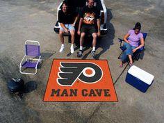 NHL - Philadelphia Flyers Man Cave Tailgater Rug 5'x6'
