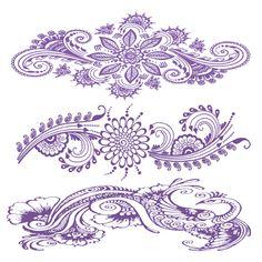 Indigo Henna Flower Tattoos #t4aw #tattofooraweek #temporarytattoo #faketattoo #indigo #henna #flowers #tattoos
