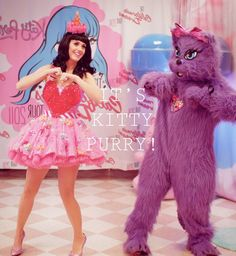 Katy Perry with Kitty Purry.