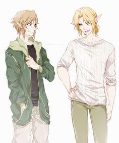 鳥- Links in modern clothing! Click for full size. bless the fact that Time actually stands like that in game tho