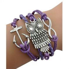 Purple Owl Arm Party Bracelet