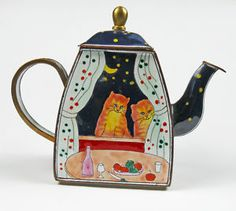 Decorative Kelvin Chen Cat Teapot # 722 cat enamel $6.50