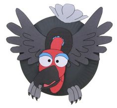 Paper Plate Vulture Craft - to depict Jatayu - the vulture bird who fights with Ravan