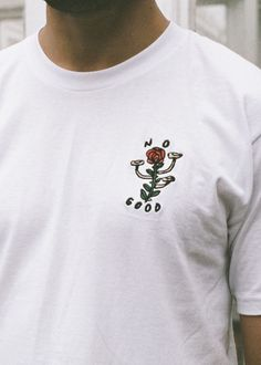 No Good embroidered t-shirt | Stay Home Club