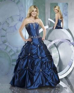 Navy blue wedding dress
