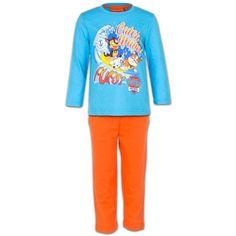Paw Patrol Kinder Pyjama - Chase, Rubble & Marshall (Lichtblauw/Oranje)