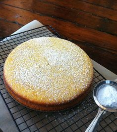 A beautiful, refreshing cake with a lightly tart flavor and incredible texture.  Made it dairy-free by subbing in soymilk.