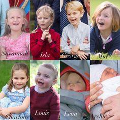 The eight great-grandchildren of Queen Elizabeth II and Prince Philip. Prince William Family, Kate Middleton Prince William, Prince William And Kate, English Royal Family, British Royal Families, Duchess Kate, Duke And Duchess, Royal Family Pictures, Elisabeth Ii
