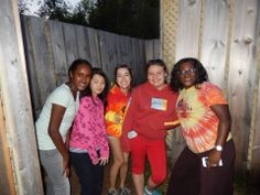 Camp Coordinatrice Ambengen, camp counselor Amanda and campers all tackled the mazes! #OutdoorFun #FunInFrench