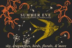 Summer Eve Floral Collection by Feanne on Creative Market