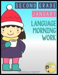 $ 2nd Grade Language Morning Work: JANUARY - Common Core