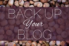 Back Up Your Blog!  - Get Your Blog Ready for Next Year