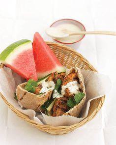 tandoori-style chicken burgers