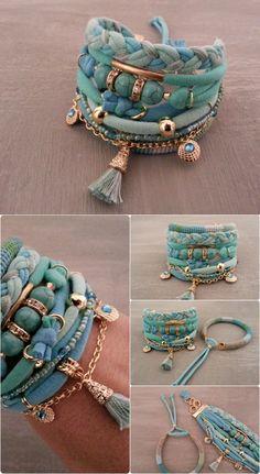 Bohemian Bracelet Turquoise Bracelet Gypsy by vanessahandmade