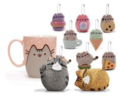 """""""Pusheen-style Rice Crackers"""" by alara-cary on Polyvore featuring art"""