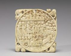 Mirror case (valve de miroir) (Front) - early 14th century - Baltimore, Walters Art Museum (source: Gothic Ivories, Courtauld Insititute)