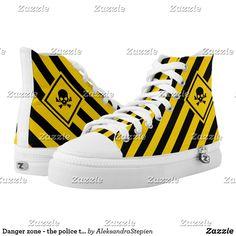 Diamond Skull, Duo Tone, Custom Sneakers, Top Shoes, Yellow Black, Converse Chuck Taylor, Retro Fashion, High Tops, Police