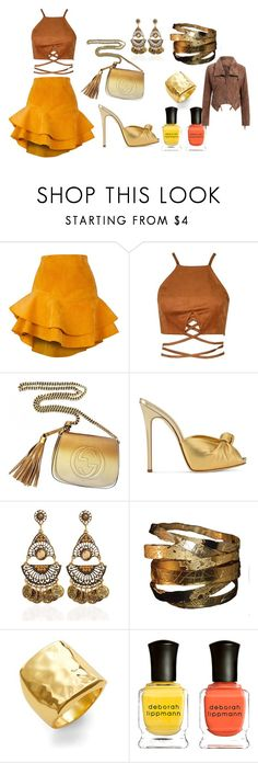 """never over dressed"" by lisa-elijah on Polyvore featuring Siobhan Molloy, Gucci, Giuseppe Zanotti, Argento Vivo and Deborah Lippmann"