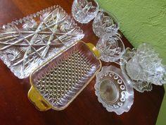 8  American Brilliant Cut Glass Mid Century by FabulousVintageHats