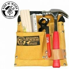 Tool Belts - Sale for children - Belt Pouch Tool Kit 01 made of real leather! Plus tools A600100