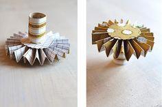 DIY Mini Rosette Cupcake Stands