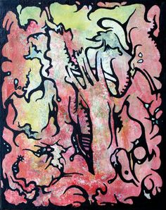 Forming  Mixed Media Painting by LauraConverseArt on Etsy, $100.00