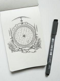 Resultado de imagem para tattoo hobbit door