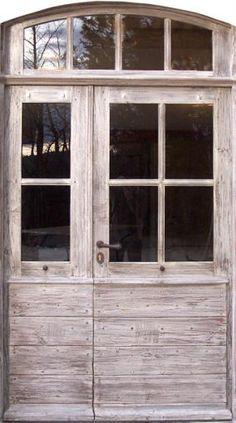Entrée Provençale à carreaux Porte tiercée en vieux chêne. Portes d'entree .
