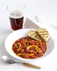 Hungarian Sausage Stew with Ale Recipe from Food & Wine - http://www.foodandwine.com/recipes/hungarian-sausage-stew-with-ale