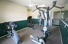 Fitness room at The Wilson Crossing Apartments in Cedar Hill, TX