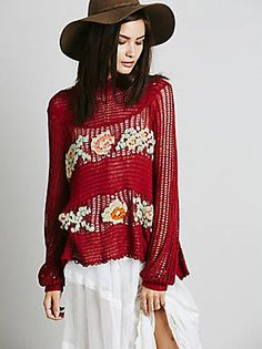 Free People FP New Romantics Everything is Rosey Pullover, $198.00