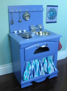 Custom Play Kitchen - Handmade Pretend Toy for Toddlers - Made to order by Thecuckooclocks on ETSY