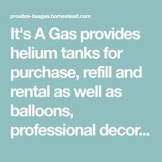 Helium Tank Refill