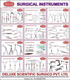 SURGICAL INSTRUMENTS:  A large variety from Surgical Instruments is as Wound Retractors, Suturing Instruments, Obstetrical Instruments, Hemostatic Forceps, Abdominal Retractors, Needle Holders, Nasal Instruments, Scalpels & Knives, Clamps, Intestinal Instruments, Scissors, Gyneocological Instruments and so many others…  DELUXE SCIENTIFIC SURGICO PVT LTD  ROHIT SABHARWAL Mobile : +91 9899077957  /9810867957 Skype : rohit.desco1