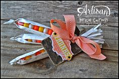 Pink Buckaroo Designs: Artisan Wednesday Wow- Candy Corn Husk