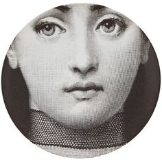 Fornasetti Plate ($137) ❤ liked on Polyvore featuring home, home decor, fornasetti, black, colored plates, black home decor, fornasetti plates and black plates