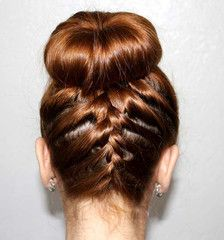 Use a hair donut to help you make this braided sock bun look from http://www.bunqueen.com/