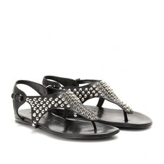 Burberry Brit Lacy Studded Leather Sandals
