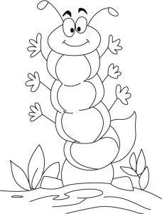 Free Printable Coloring Pages Very Hungry Caterpillar For Kids Page Of Sheet