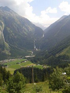 Uitzicht op Krimmler Wasserfälle