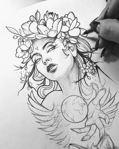+ 100 Best Easy Pencil Drawings Images : Tatuajes - Art & Drawing Community : Explore & Discover the best and the most inspiring Art & Drawings ideas & trends from all around the world Art Drawings Sketches, Tattoo Sketches, Tattoo Drawings, Pencil Drawings, Kunst Tattoos, Body Art Tattoos, Girl Tattoos, Desenho Tattoo, Mandala Tattoo