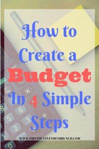 Budgeting for Beginners. The first step to managing your finances is to create (and stick to) a budget. To be successful your budget needs to be personalized and realistic. This simple 4 step guide will show you how to create a budget and track your income and expenses each month!