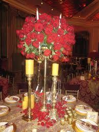 Rose/candleabra centerpieces