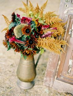 #Fall Wedding Flowers | Jose Villa Photography | See the wedding on SMP: http://www.StyleMePretty.com/california-weddings/napa-valley/2009/10/21/jessica-claires-wedding-by-jose-villa/