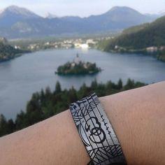 Postkarte von einer zufriedenen Kundin aus Slowenien mit unser Armband  #armband #bracelet #jewelry #schmuck #accessories #leder #leather  #fashion #ootd #instalike #vsco #photooftheday #Sport #wanderlust #mountains #lake #travel #Lifestyle #slovenia #bled #Alpen #cowstyleday2day Cuff Bracelets, Vsco, Wanderlust, Poster, Ootd, Sport, Tattoos, Instagram Posts, Slovenia